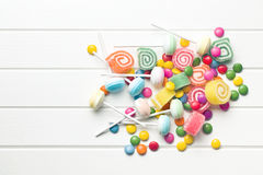 Top view of colorful candy Stock Photo