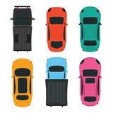 Top view of Colorful different car on white background. Top view of Colorful different car on white background, vehicles vector illustration vector illustration