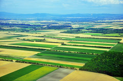 Top view of the colorful fields Royalty Free Stock Photography