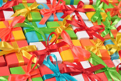 Top view of colorful gifts Royalty Free Stock Photo