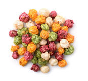 Top view of colorful popcorn Stock Photography
