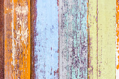 Top view colorful vintage wood material background stock image