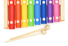 Top view colorful xylophone Stock Image
