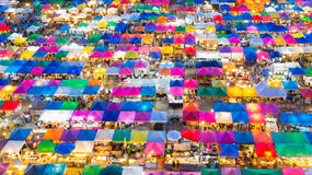 Top View Colours Full Weekend Market Stock Photos