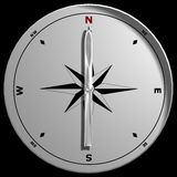 Top View of a Compass Royalty Free Stock Photos