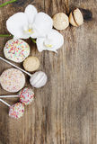 Top view of confectionery Royalty Free Stock Photography