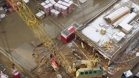 Top view of the construction site stock video footage