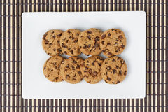 Top view cookies Stock Photos