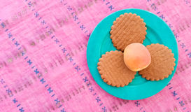 Top View of Cookies Stock Image
