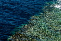 Top view of the coral reefs in the Ras Muhammad National Park. Stock Photo
