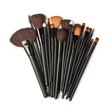 Top view of cosmetic brush set Royalty Free Stock Images