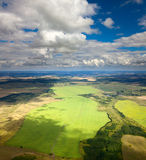 Top view of the countryside Stock Photography