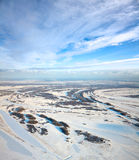Top view of countryside in winter Stock Photography