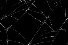 Top view cracked broken mobile screen glass texture background. Stock Photo