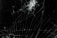 Top view cracked broken mobile screen. Glass texture background royalty free stock photos