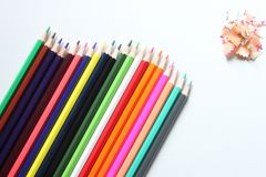 top view crayon is placed on a white background and have copy sp royalty free stock photo