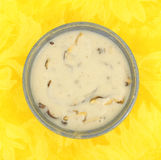 Top view of cream of mushroom soup Royalty Free Stock Photo