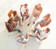 Creative team sitting in class for team building Royalty Free Stock Images