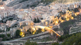 Top view of Cuenca at dusk Royalty Free Stock Images