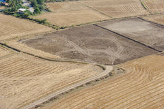 Top view of cultivated land Royalty Free Stock Photography
