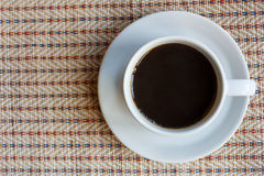 Top view of cup of black coffee Royalty Free Stock Image