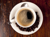 Top view of a cup of coffee Stock Photos