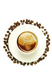 Top view of a cup of coffee Stock Photography