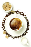 Top view of a cup of coffee Stock Photo