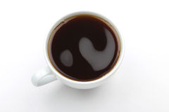 Top view of a cup of coffee Royalty Free Stock Photography