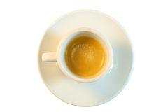 Top view of a cup of coffee Stock Image