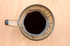 Top view of an cup of coffee Stock Photography