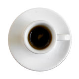 Top view , Cup of espresso coffee. Stock Photography