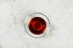 Top view of a cup of tea Royalty Free Stock Photos