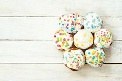 Top view of cupcakes Stock Photo