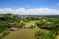 Top view of Curitiba, Brazil Stock Images