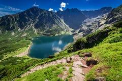 Top view of Czarny Staw Gasienicowy in Tatra Mountains, Poland. Europe Royalty Free Stock Photo