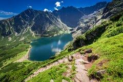 Top view of Czarny Staw Gasienicowy in Tatras, Poland. Europe Royalty Free Stock Image