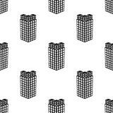 Top view of 3d building icon. Element of 3d building icon for mobile concept and web apps. Pattern repeat seamless Top view of 3d. Building icon. icon can be Royalty Free Stock Image