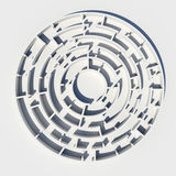 Top view of 3d model round maze Stock Images