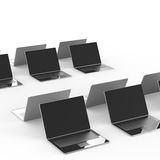 Top view of 3d network computer Stock Images