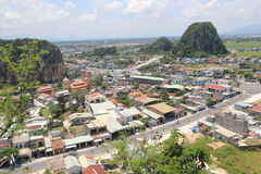 Top view of Da Nang District in Vietnam Stock Image