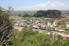 Top view of Da Nang District in Vietnam Royalty Free Stock Photo
