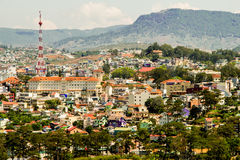 Top view in dalat city vietnam Royalty Free Stock Image