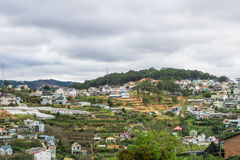 Top view in dalat city vietnam Stock Photography