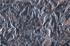 Top view of dark silvery foil background texture Stock Photography
