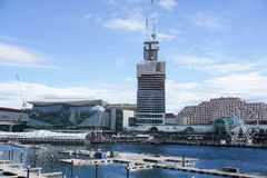 Top view at Darling Harbour taken in Sydney Australia Stock Photo