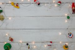 Top view of decoration Happy New year and Merry Christmas background. Stock Photography