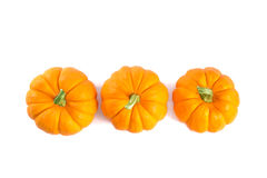 Top view of decorative orange pumpkins Royalty Free Stock Photos