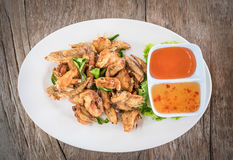 Top view Deep fried chicken wings Stock Photography