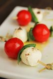 Caprese tapas Stock Photography